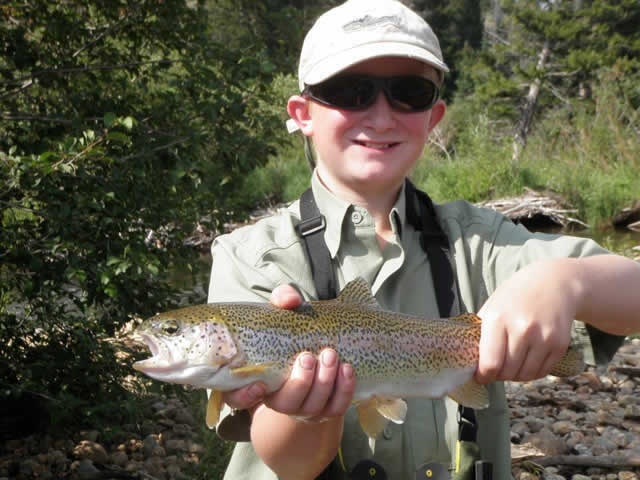 Arapaho Ranch Cabins caught trout